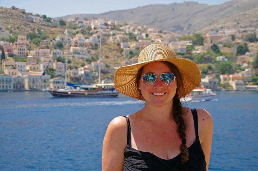 Simone sailing in Turkey