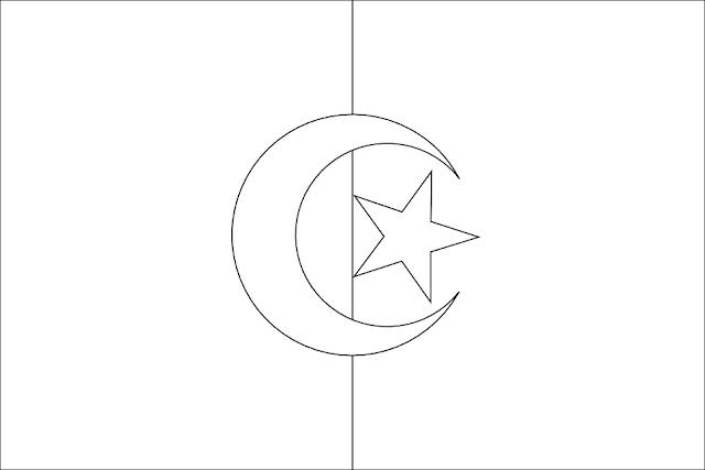 drapeau algérie coloriage