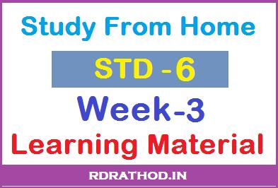 std 6 week 3 home work pdf download