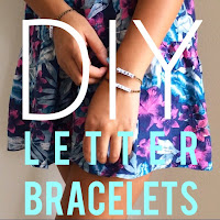 diy letter bracelets, diy tumblr jewelry, diy word bracelets, lauren banawa