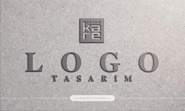 3D logo tasarımı kukuk ofis duvarı