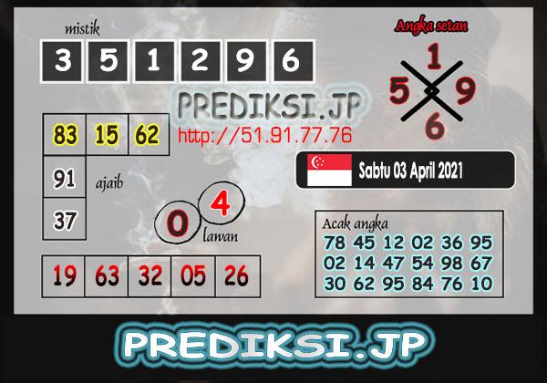 Prediksi JP SGP Sabtu 03 April 2021