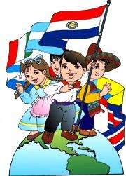 Dibujo alusivo al Día de las Américas para niños
