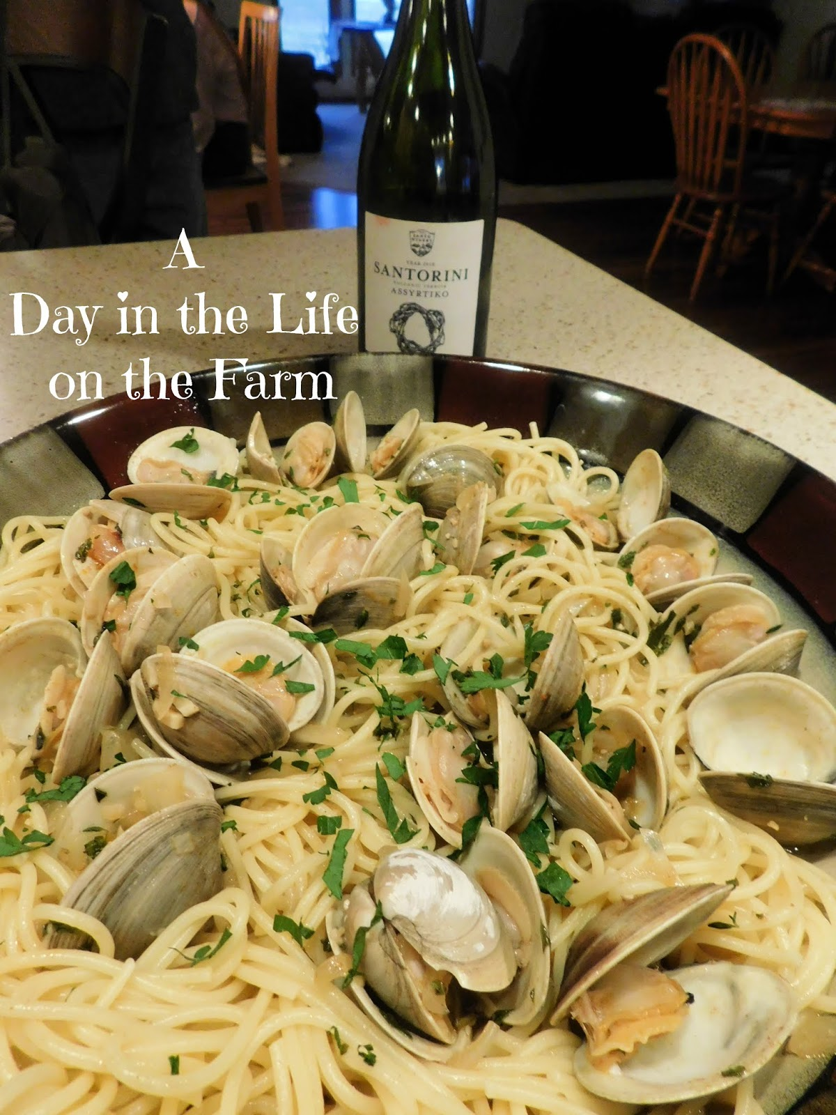 Clams Tossed in Herbs with Spaghetti