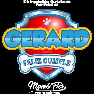 Logo de Paw Patrol: GERARD