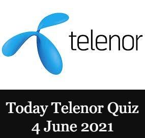 Telenor Quiz Answers 4 June