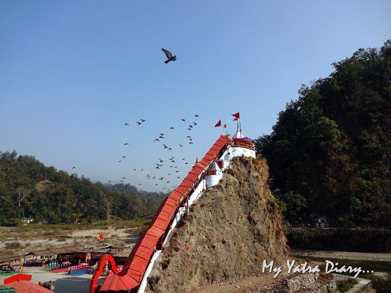 Garjiya Devi Shakti Temple on a hillock in Uttarakhand