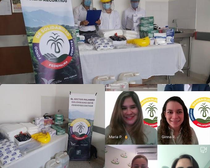 Fedepalma y Fundación Poligrow aportan recursos para donar elementos de bioseguridad y dotar Centro de salud en Mapiripán, Meta