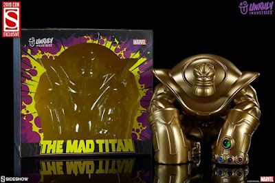 "San Diego Comic-Con Exclusive Thanos ""The Mad Titan"" Gold Edition Vinyl Figure by Joe DellaGatta x Unruly Industries x Sideshow x Marvel"