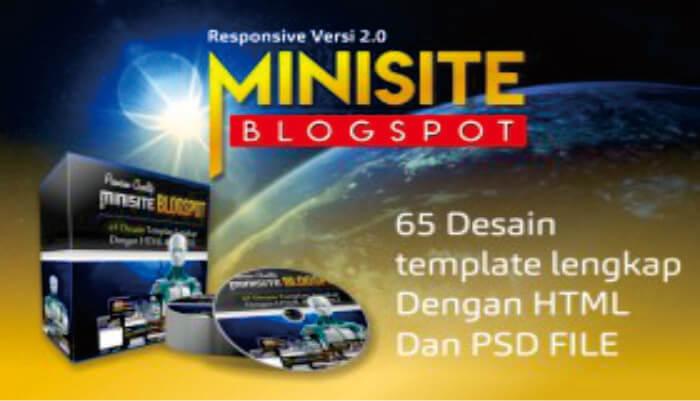 New 65 Desain Minisite Blogspot Responsive Versi 2.0