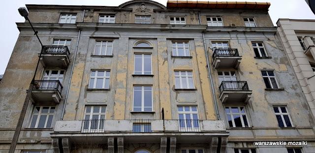 Warszawa Warsaw ulica Polna architektura kamienica Marian Kontkiewicz