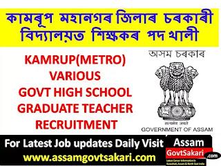 Inspector of Schools Kamrup(M) Recruitment 2019