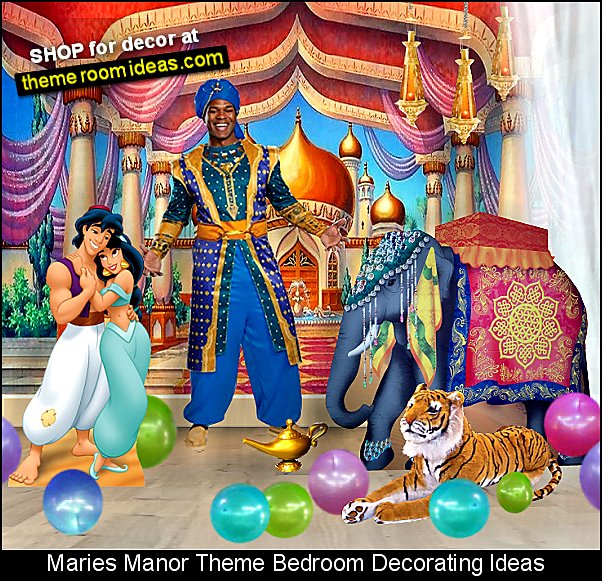 arabian castle backdrop aladdin jasmine standees genie costume elephant standee magic lamp