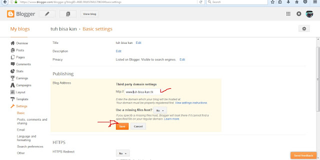 setting basic blogspot