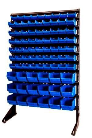 Фото стеллаж с пластиковыми ящиками