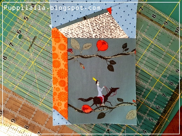 Puppilalla, Modern Patchwork, Tall Tales Block, Foundation Paper Piecing, Fussy Cut, Throw Quilt, Blanket