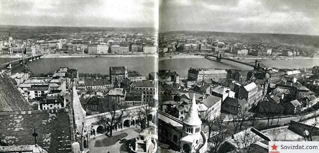 1959. Будапешт, Венгрия - Вид с Рыбацкого бастиона на Пешт