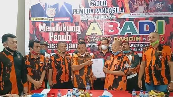 Dukung Paslon ABADI Menangkan Pilkada Kota Sibolga, Begini Alasan MPC PP Sibolga