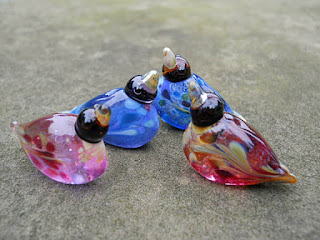 lampwork glass beads fro Isinglass Design