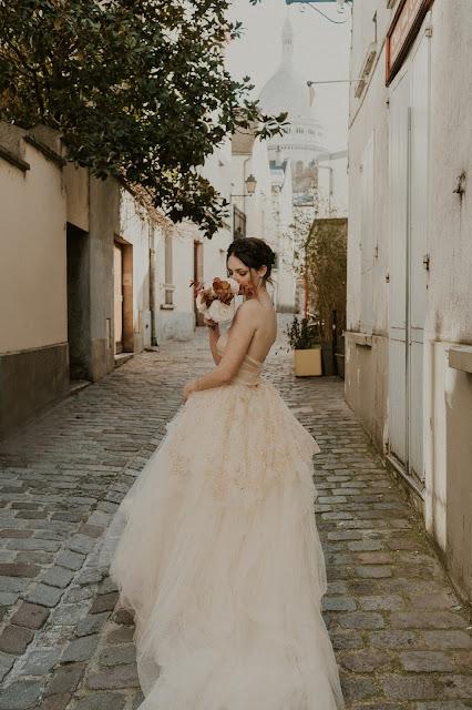 elopement de printemps, Robe de mariée D'Ors et de Soie, Paris