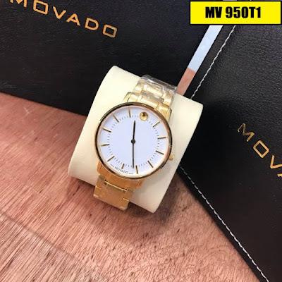 Đồng hồ nam Movado MV 950T1 mặt trắng