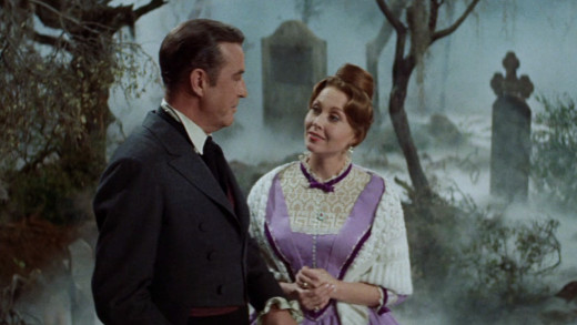 Ray Milland and Hazel Court, The Premature Burial (1962)