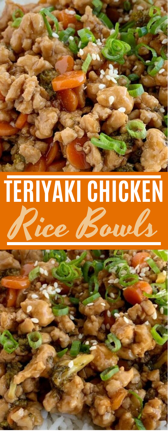 Teriyaki Chicken Rice Bowls #chicken #dinner