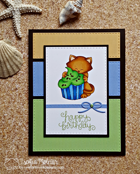 Happy Birthday by Zsofia features Newton Loves Cake by Newton's Nook Designs; #newtonsnook