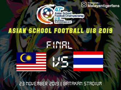 Live Streaming Malaysia U18 vs Thailand U18 Final 23.11.2019