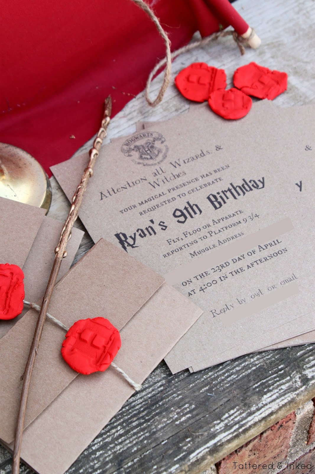 Tattered and Inked: DIY Harry Potter Birthday Party