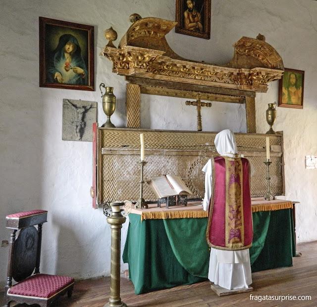 Altar do Século 17 no Museu do Mosteiro de Ecce Homo, Villa de Leyva, Colômbia