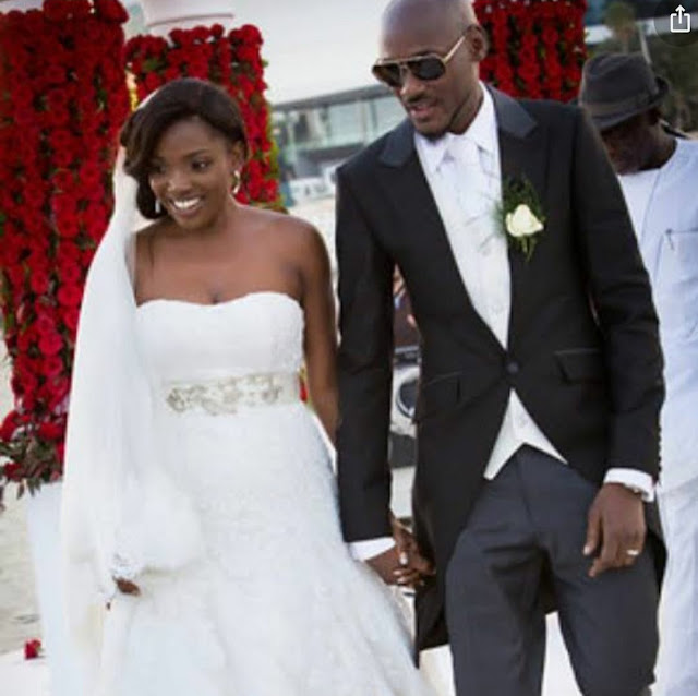"""I married my first crush"" Tuface and Annie Idibia celebrates their wedding anniversary"