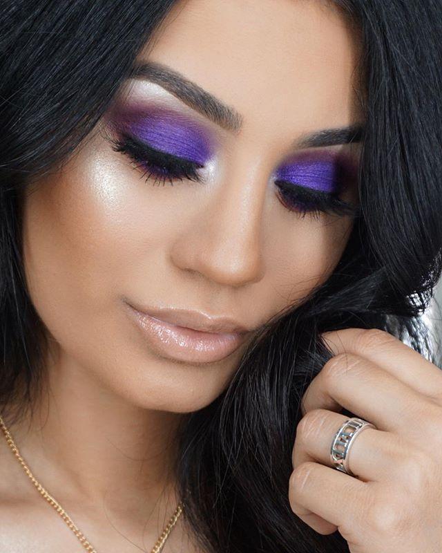 Maquiagem sombra roxo