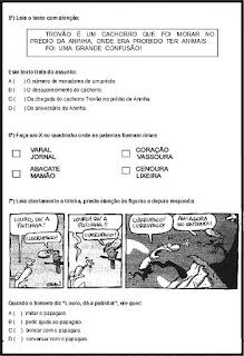 Simulado de português 3º ano