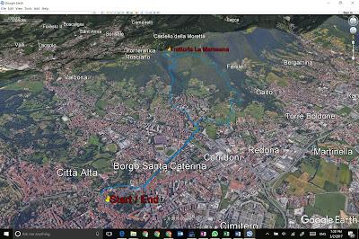 Path from Bergamo to Maresana and back.