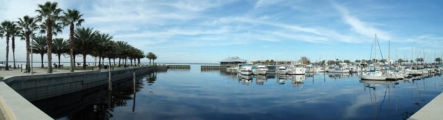 Marina en el lago Monroe, Sanford