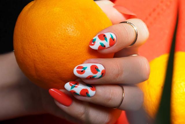 Pomarańczowe paznokcie | Paznokcie w pomarańcze