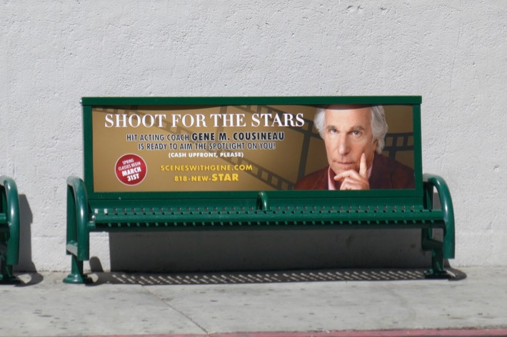 Shoot for stars Henry Winkler Barry season 2 bench ad