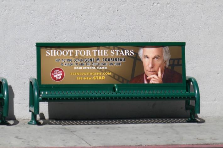 Shoot for stars Henry Winkler Barry season 2 bench ad