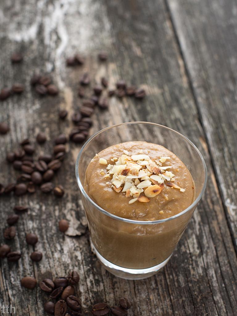 Jaglany krem kawowy wegański bezglutenowy bez cukru roślinna kuchnia blog