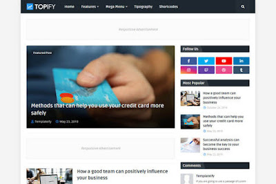 Topify blogger template