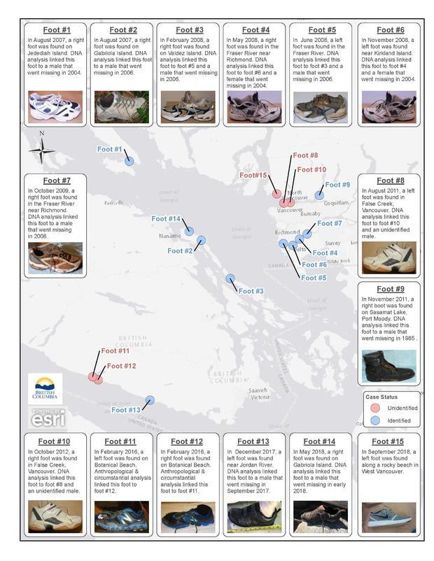 Human Feet Mysteriously Washed Ashore on British Columbia Shorelines