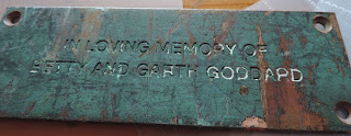 loving memory of betty and garth goddard plaque