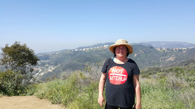 Erika Kerekes hiking in the Santa Monica mountains - not to lose weight, but because exercise makes me healthier