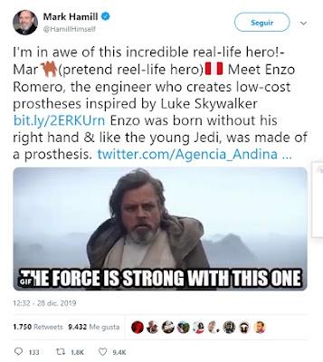 Ingeniero peruano inspirado en Luke Skywalker crea prótesis para manos