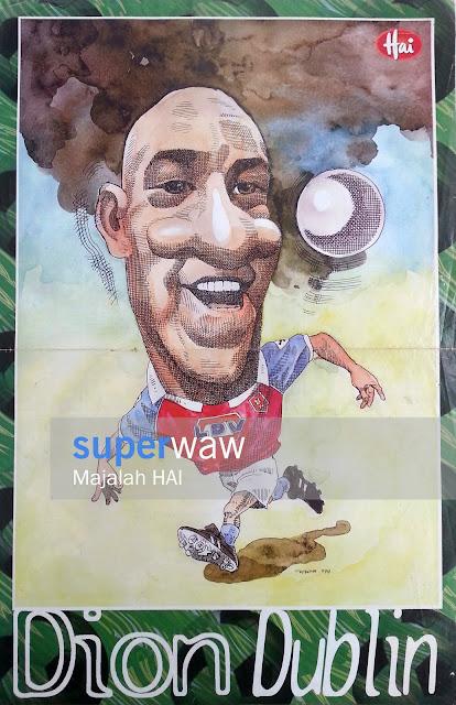 Karikatur Dion Dublin Aston Villa