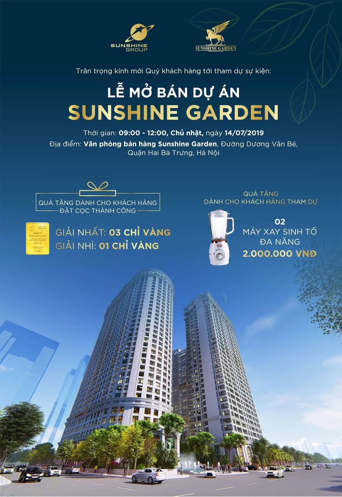 Thư mời sự kiện mở bán Sunshine Garden