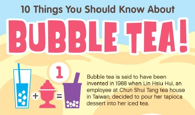 10 Things You Should Know About Bubble Tea! #infographic