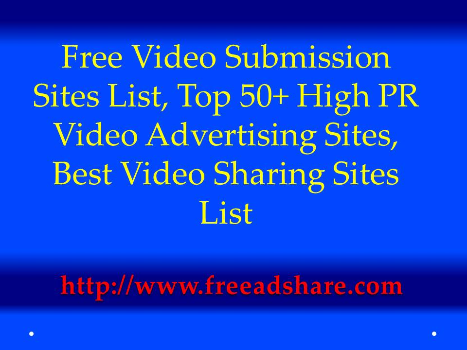 Top video sharing sites list-7561