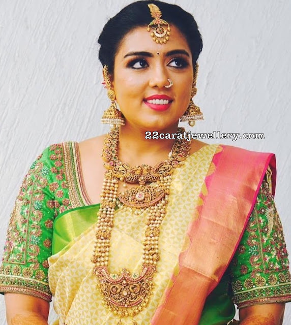 Bride in Pearls Patakam Haram